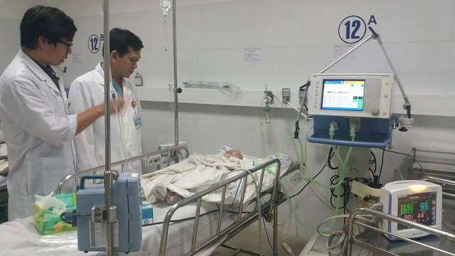 Cháu Tr. đang điều trị tại Bệnh viện Đà Nẵng