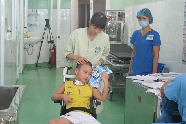 Cháu Lĩnh đã được xuất viện sau thời gian dài điều trị