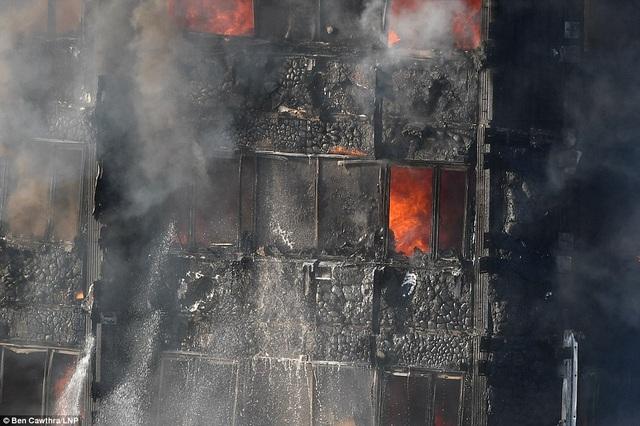 Vụ hỏa hoạn gần như thiêu rụi tòa nhà. (Ảnh: Dailymail)