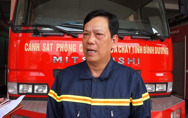 Đại tá Nguyễn Văn Dựt, Phó giám đốc CS PCCC tỉnh Bình Dương.