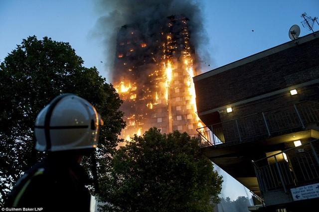 Hỏa hoạn đã thiêu rụi hàng trăm căn hộ trong tòa nhà. (Ảnh: Dailymail)