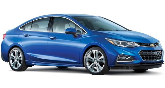 Xe cỡ nhỏ: Chevrolet Cruze - Mẫu xe này gây ấn tượng với Consumer Reports bởi nội thất rộng rãi và xe vận hành êm.