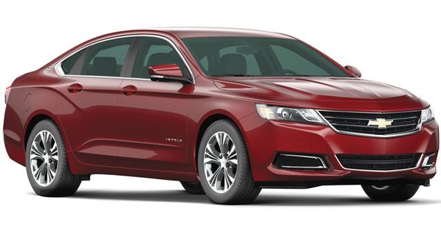 Sedan cỡ lớn: Chevrolet Impala - Thế mạnh của Impala là không gian bên trong xe rộng rãi và tính thực dụng cao. Dù là xe cỡ lớn, nhưng Impala được đánh giá là vận hành chuẩn xác, nhanh nhẹn và an toàn.