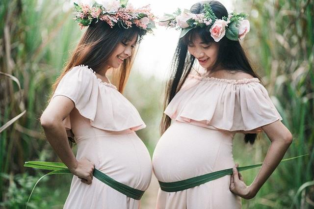 Những hình ảnh hết sức đáng yêu của hai bà bầu đến từ Cần Thơ