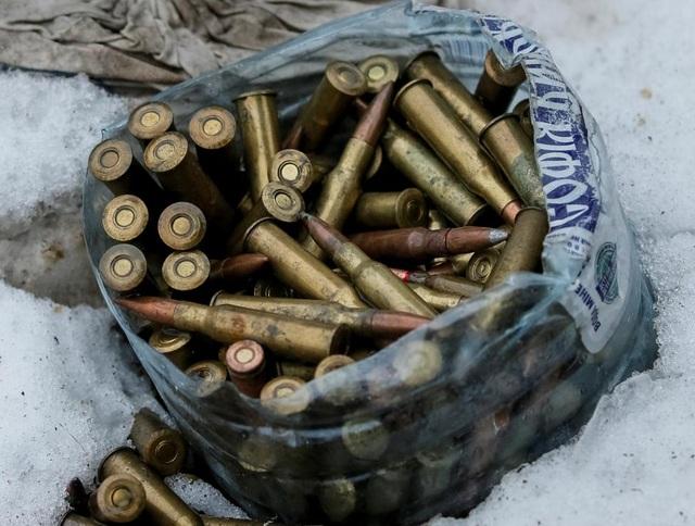 Một túi đạn của lực lượng chính phủ ở Đông Ukraine. (Ảnh: Reuters)