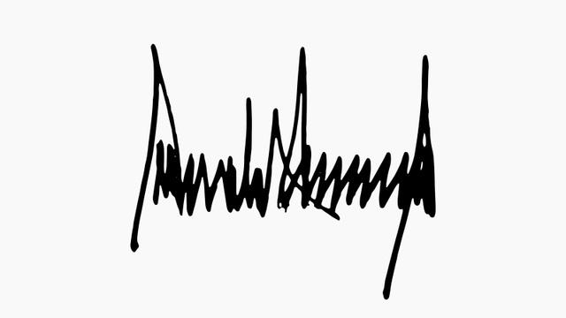 Chữ ký của Tổng thống Mỹ Donald Trump. (Ảnh: Quartz)