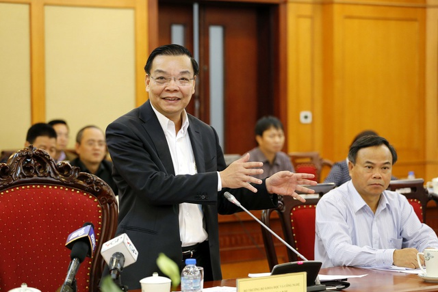 Bộ trưởng KH-CN Chu Ngọc Anh phát biểu tại cuộc kiểm tra.