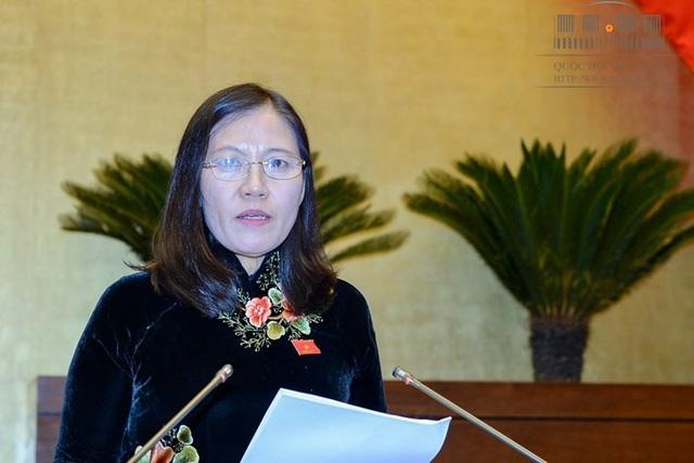 Chủ nhiệm Uỷ ban Tư pháp Lê Thị Nga (Ảnh: Quochoi.vn).