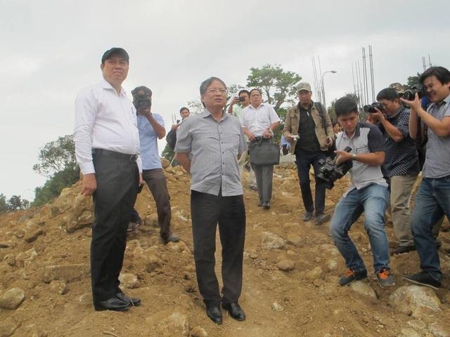 Chủ tịch UBND TP Đà Nẵng Huỳnh Đức Thơ trực tiếp kiểm tra dự án có 40 móng biệt thự không phép