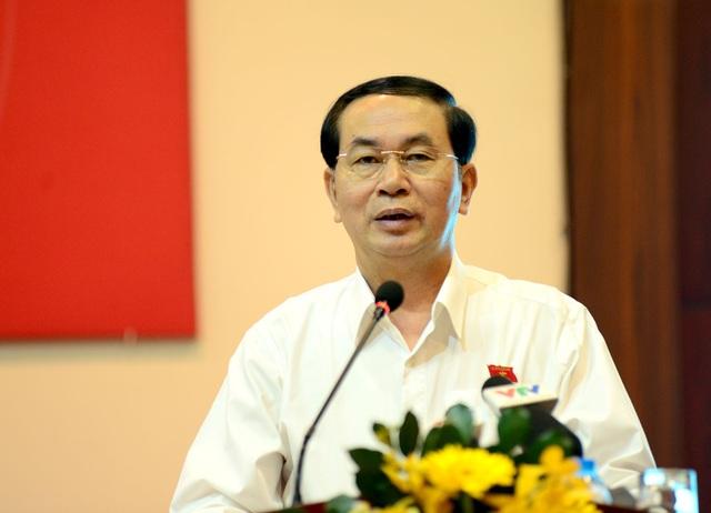 Chủ tịch nước Trần Đại Quang cho biết xử lý dứt điểm các dự án thua lỗ sẽ giảm gánh nặng nợ công