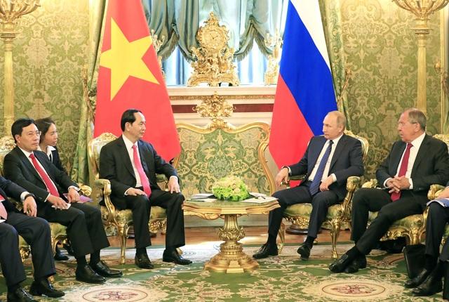 Chủ tịch nước Trần Đại Quang hội đàm với Tổng thống Liên bang Nga V. Putin