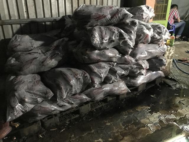 Số bắp chuối nguyên liệu bị thu giữ