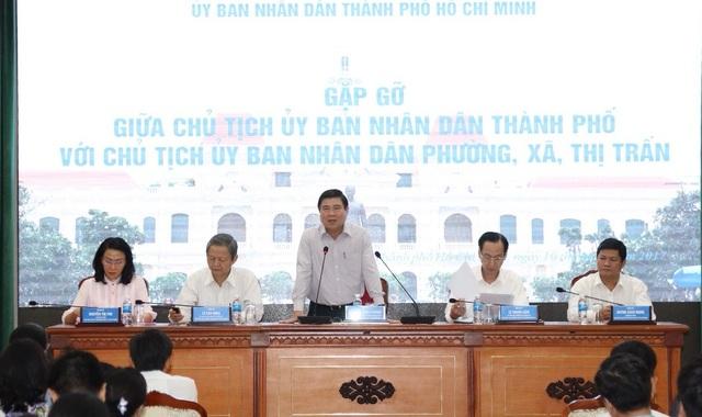Chủ tịch UBND TPHCM Nguyễn Thành Phong gặp gỡ 322 Chủ tịch xã, phường, thị trấn của thành phố