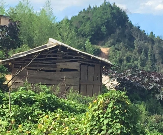 Điểm trường Pắng Sẳng B được xây dựng từ năm 2007, thưng từ những tấm ván gỗ tuềnh toàng, cũ nát theo thời gian