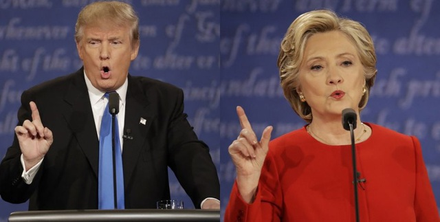 Tổng thống Mỹ Donald Trump và cựu đối thủ Hillary Clinton (Ảnh: Fox)
