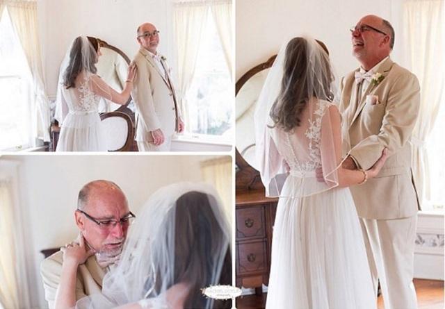 Cảm xúc của cha lần đầu nhìn con gái trong chiếc áo cô dâu - 6