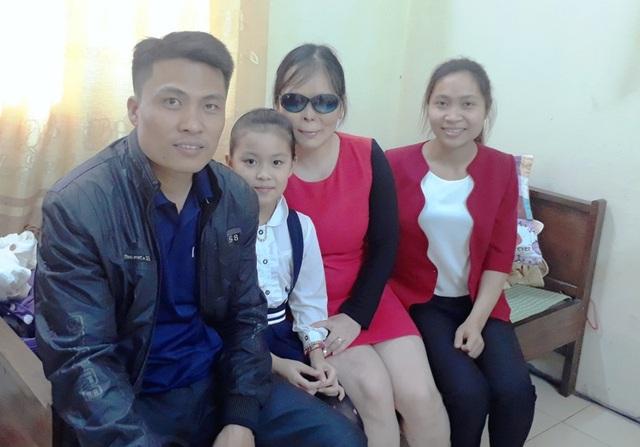 Chị Dương hạnh phúc bên gia đình