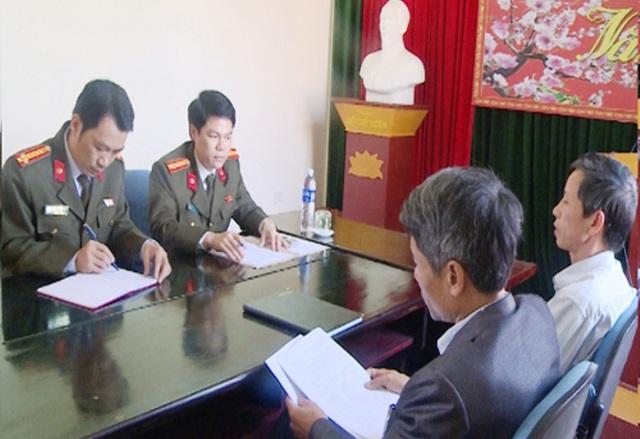 Công an Thanh Hóa làm việc với lãnh đạo xã Hải Lộc, huyện Hậu Lộc về tình hình xuất cảnh đi lao động trái phép tại Trung Quốc