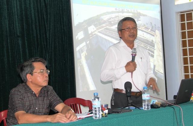 Ông Nguyễn Trường Khoa, giám đốc Sở TN-MT Quảng Trị cam kết về việc xả thải của Công ty