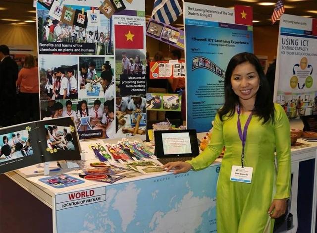 Cô Diễm Quyên đại diện cho Việt Nam tham dự Diễn đàn Giáo dục Toàn cầu 2014 và được công nhận là Chuyên gia Giáo dục toàn cầu