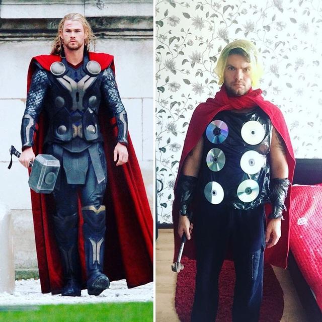 Công thức để tạo nên thần sấm Thor bao gồm: búa đóng đinh, đĩa CD, khăn tắm, túi nilon và một bộ óc đầy tính sáng tạo.
