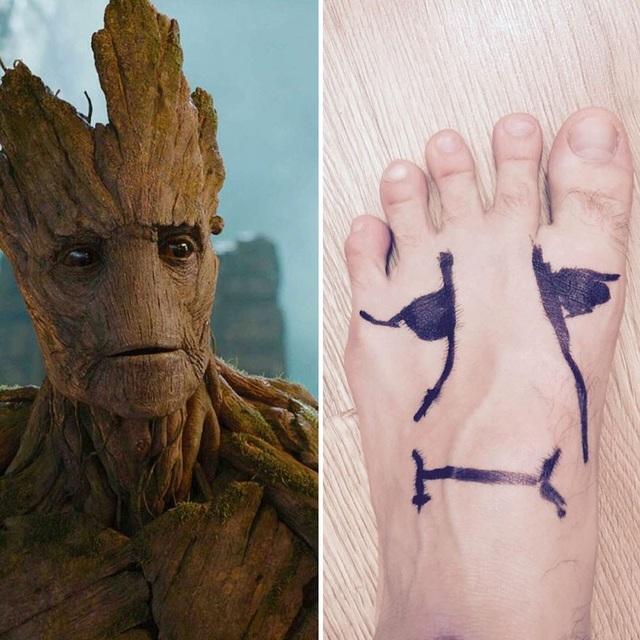 """Cách cosplay nhân vật Groot trong """"Vệ binh dải ngân hà"""" không thể đơn giản hơn."""