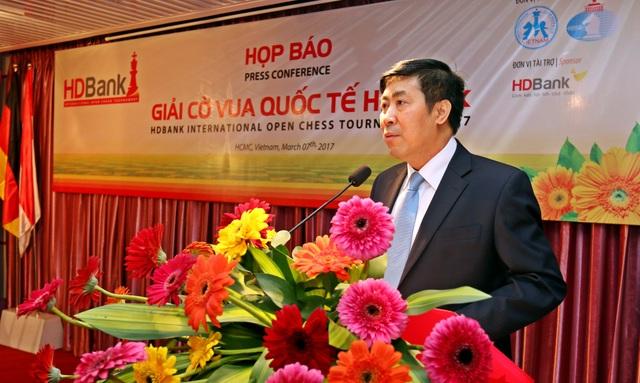 Ông Lê Thành Trung - Phó Tổng giám đốc HDBank mong muốn giải sẽ là dịp để quảng bá hình ảnh Việt Nam đến bạn bè quốc tế