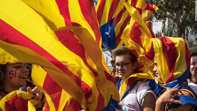 Catalonia có thể đơn phương tuyên bố độc lập. (Ảnh minh họa: AFP)
