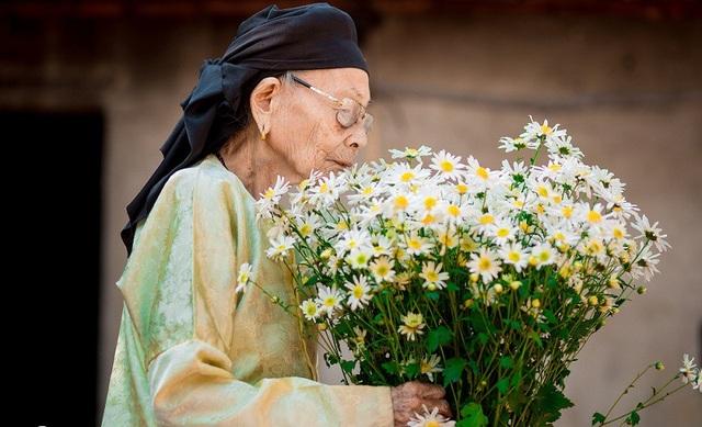 Xúc động bộ ảnh bà ngoại 99 tuổi bên cúc họa mi - 14