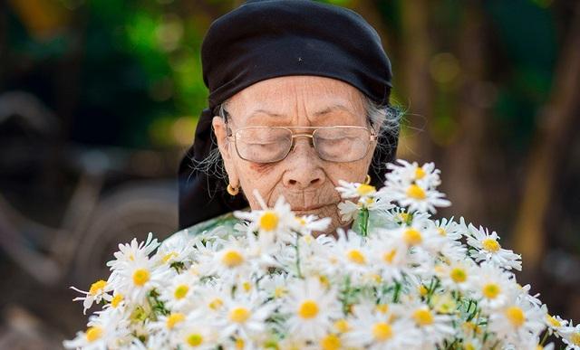 Xúc động bộ ảnh bà ngoại 99 tuổi bên cúc họa mi - 6