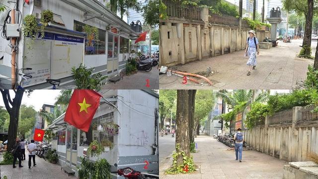 Ảnh trụ sở Khu phố 6 của phường Bến Thành trước và sau khi bị tháo dỡ