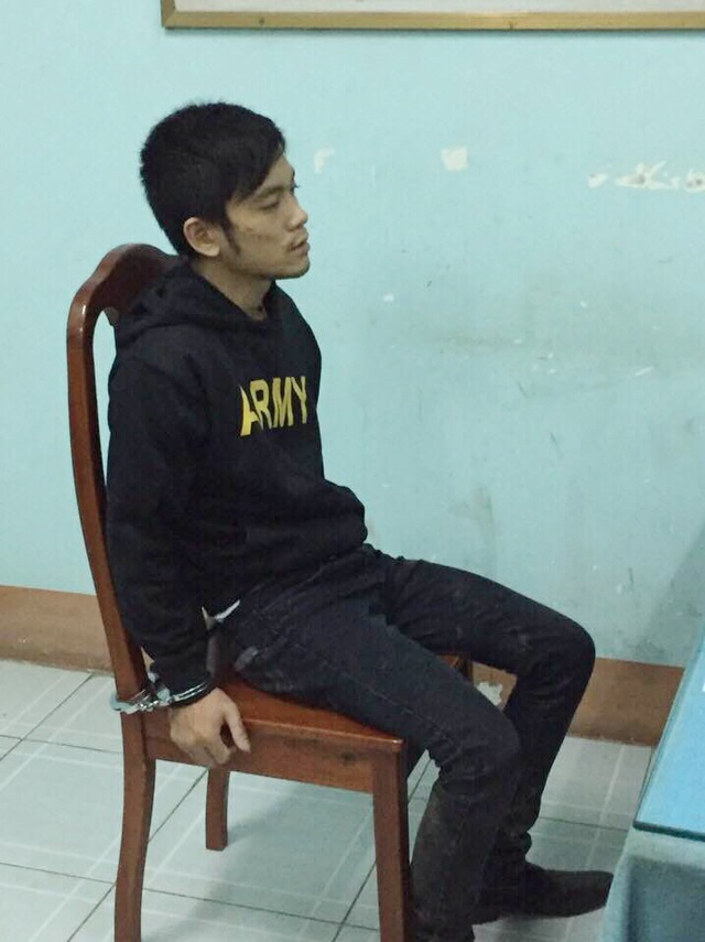 Linh bị tạm giữ tại cơ quan công an vì liên quan đến vụ cướp táo tợn.