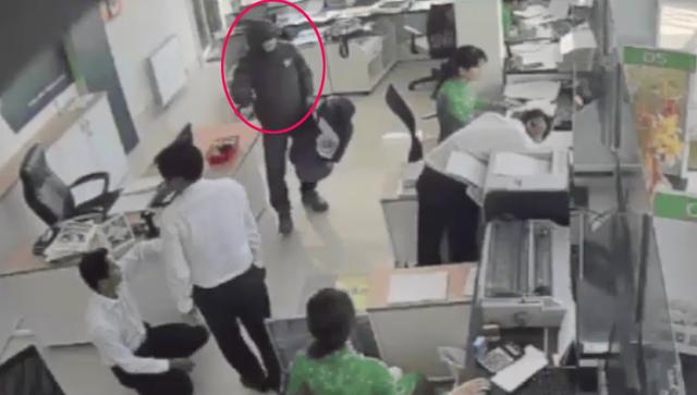 Hình ảnh camera ghi lại được về tên cướp