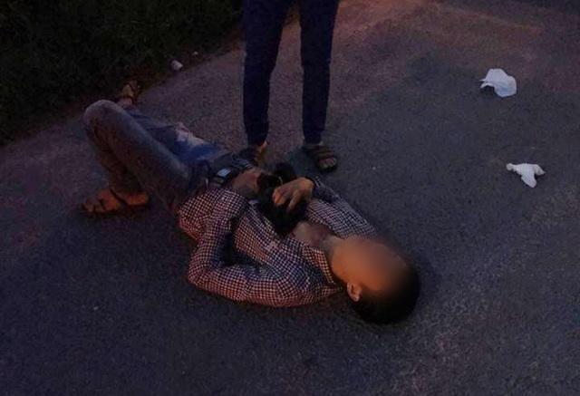 Anh Tài bị tấn công dẫn đến bị thương ở vùng ngực và cổ.