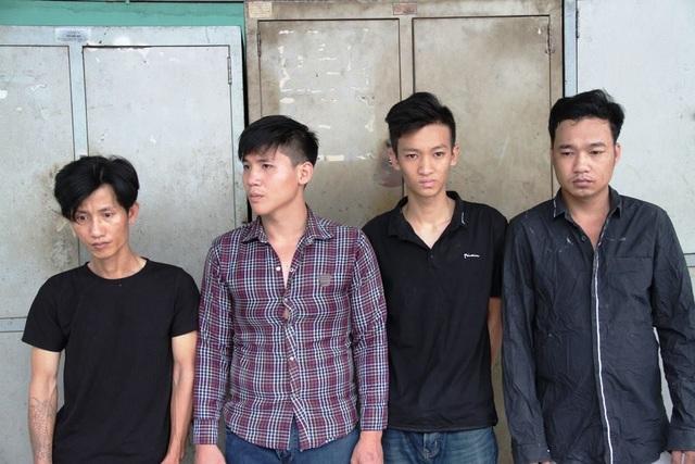 Nhóm 4 đối tượng bị bắt