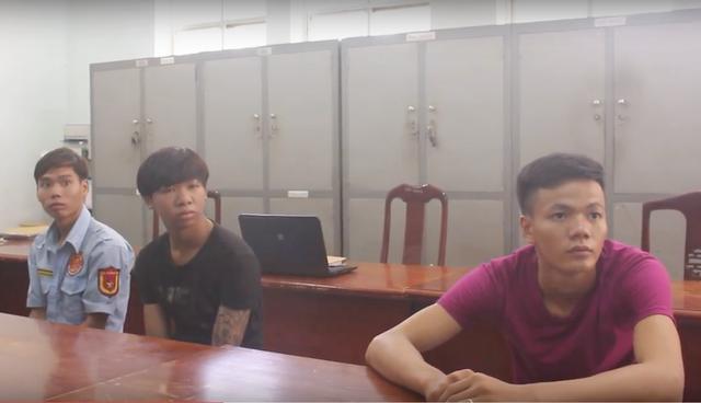 3 nghi can Cao Văn Hạnh, Nguyễn Văn Ngận và Trương Đình Lộc tại cơ quan công an