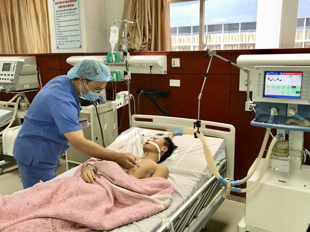 Bệnh nhân Nguyễn Đức Khải đang được điều trị tại Bệnh viện Đa khoa Bắc Ninh