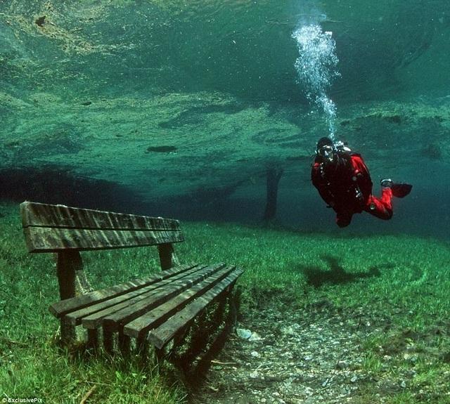 Công viên xanh mát đột nhiên biến thành hồ nước sâu - 2