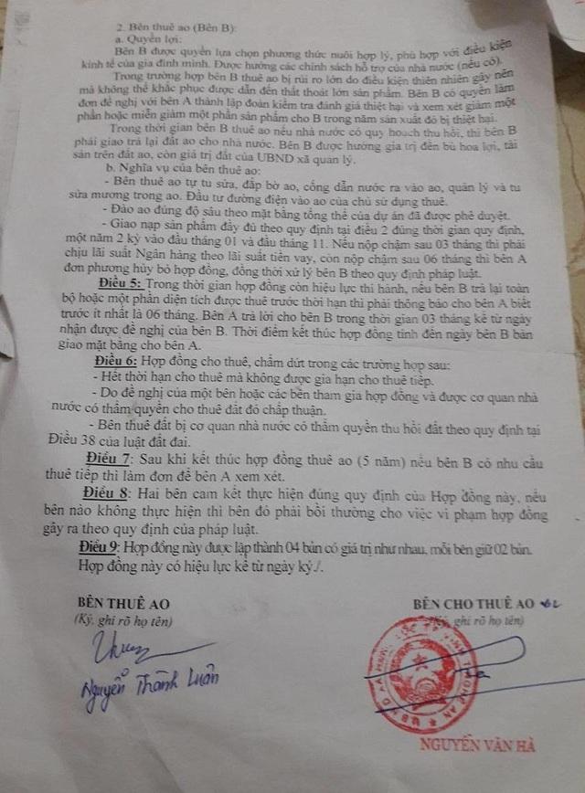 Hợp đồng anh Luân ký với UBND xã Hưng Lộc có thời hạn đến năm 2019.