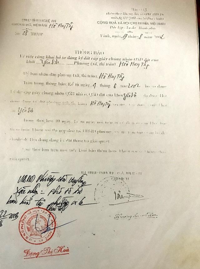Và ngày 19/8/2002 thì kết thúc việc công khai đăng ký cấp giấy chứng nhận QSD đất.