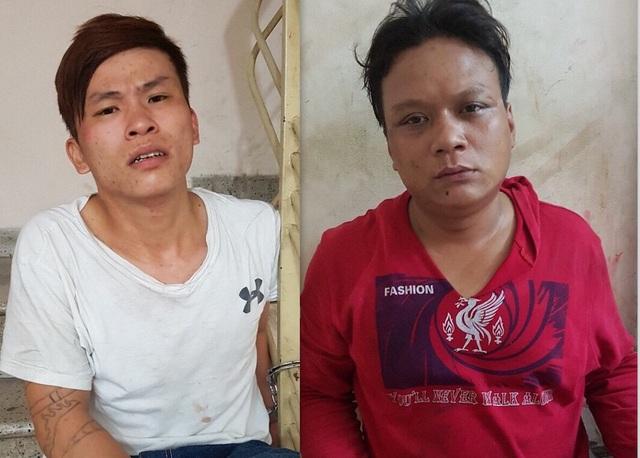 2 nghi phạm tại cơ quan công an