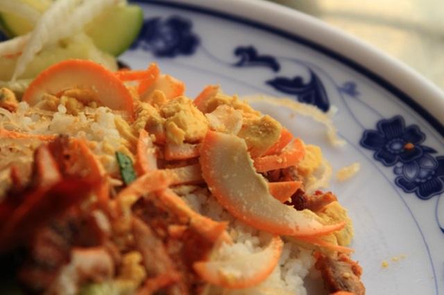 Món cơm tấm An Giang có vài điểm khác biệt so với cơm tấm Sài Gòn.