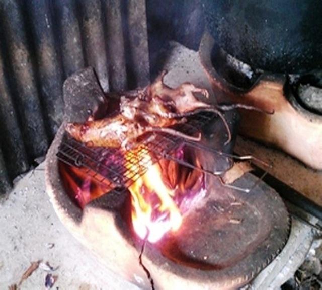 Không phải ai đến Mường La cũng được chủ nhà tiếp đãi món chuột núi nướng.