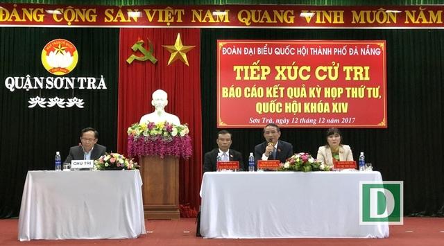 Các ĐBQH TP Đà Nẵng tiếp xúc cử tri tại quận Sơn Trà sáng 12/12