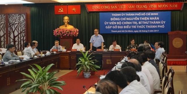 Ông Nguyễn Thiện Nhân mong muốn các nhà khoa học trên mọi lĩnh vực cùng hiến kế cho sự phát triển của TPHCM