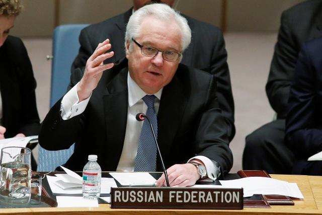 Đại sứ Nga tại Liên Hợp Quốc Vitaly Churkin (Ảnh: Reuters)