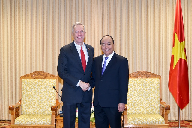 Thủ tướng Nguyễn Xuân Phúc tiếp Đại sứ Hoa Kỳ tại Việt Nam Ted Osius sáng 17/10