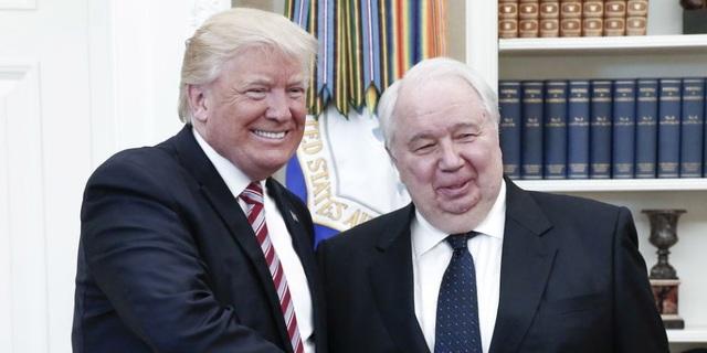 Tổng thống Donald Trump gặp Đại sứ Nga tại Mỹ Sergey Kislyak tại Nhà Trắng (Ảnh: TASS)