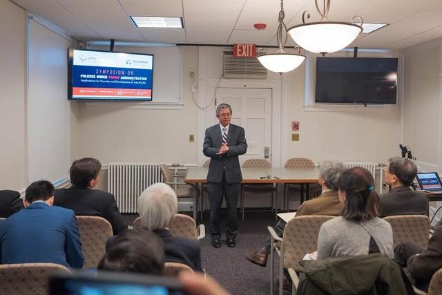 Đại sứ Phạm Quang Vinh đã tham dự hội thảo về chính sách của chính quyền Trump và an ninh và phát triển tại khu vực châu Á-Thái Bình Dương (Ảnh: BNG)