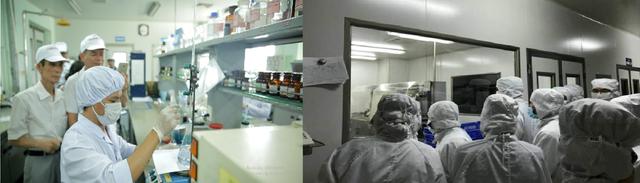 Đoàn tham quan tại phòng thí nghiệm và nhà máy Nam Dược
